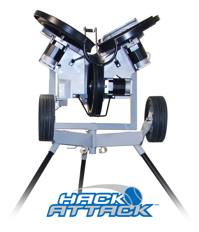 Packaging or Promotional image for Hack Attack Baseball Pitching Machine