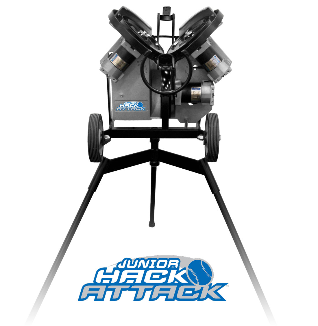 Packaging or Promotional image for Junior Hack Attack Baseball Pitching Machine