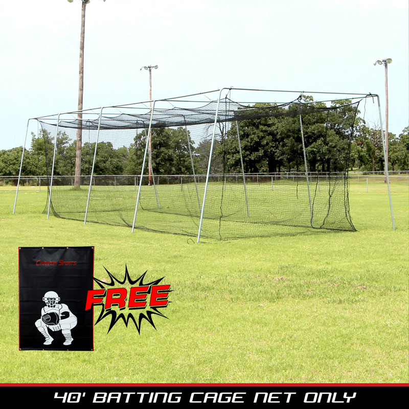 Packaging or Promotional image for Cimarron #24 40x12x10 Net with Vinyl Backstop