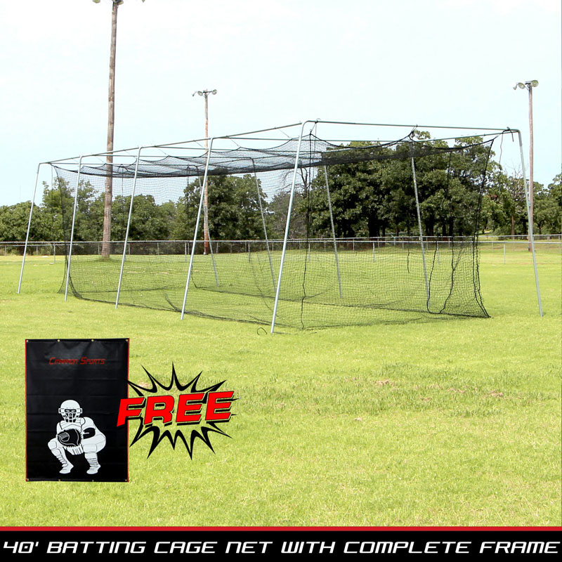 Packaging or Promotional image for Cimarron #24 40x12x10 Net and Frame with Vinyl Backstop