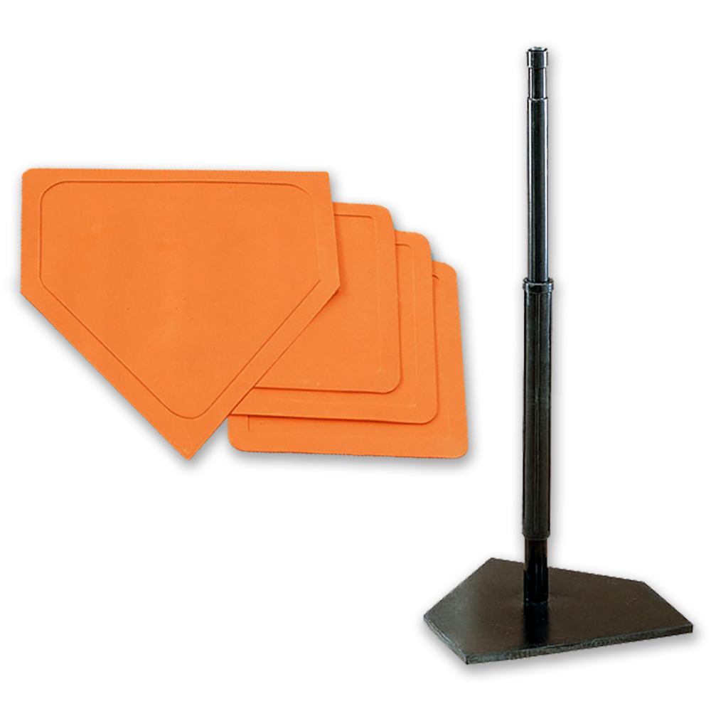 Packaging or Promotional image for Deluxe Batting Tee and Throw Down Bases