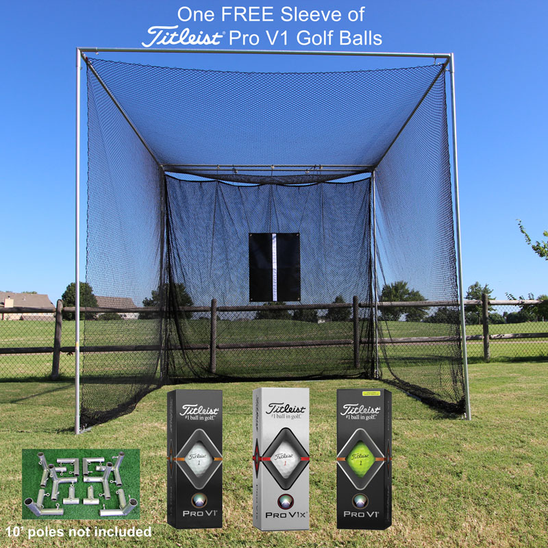 Packaging or Promotional image for Cimarron Masters Golf Net and Corner Kit with FREE sleeve of ProV1 Golf Balls