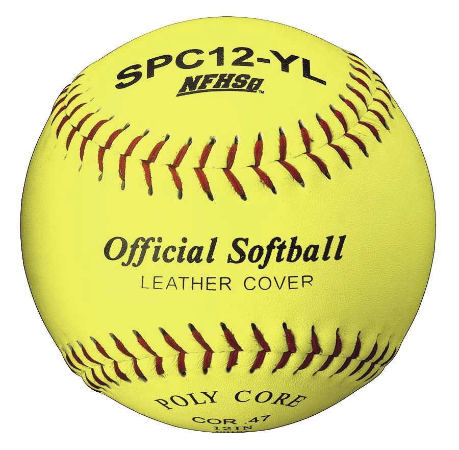 Packaging or Promotional image for Official League Optic Yellow Leather 12 Softball Dozen