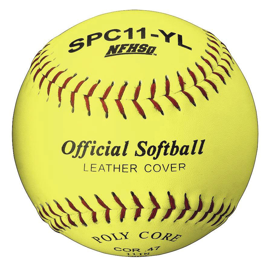 Packaging or Promotional image for Official League Optic Yellow Leather 11 Softball Dozen
