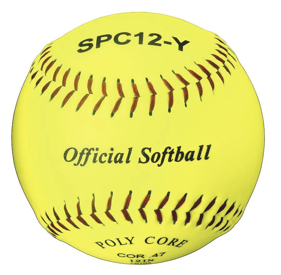 Packaging or Promotional image for Official Softball Optic Yellow 12 Dozen