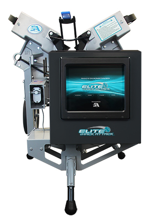 Packaging or Promotional image for Elite eHack Attack Softball Machine