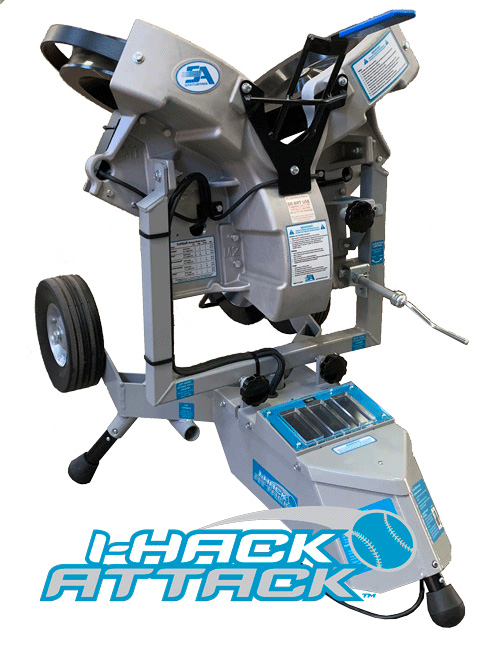 Packaging or Promotional image for I-Hack Attack Softball Pitching Machine