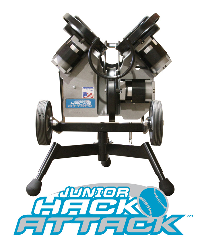 Packaging or Promotional image for Junior Hack Attack Softball Pitching Machine
