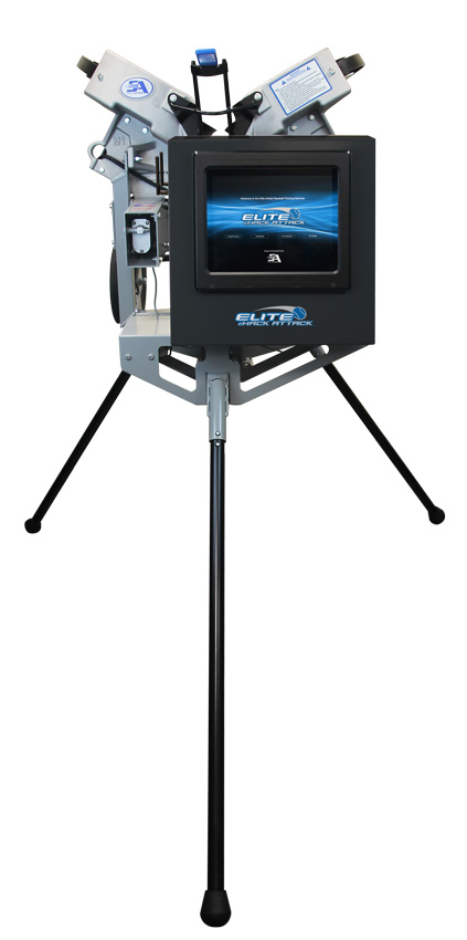 Packaging or Promotional image for Elite eHack Attack Baseball Pitching Machine
